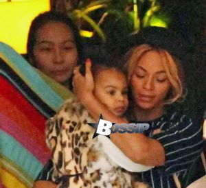 Beyonce Knowles with husband Jay Z and their daughter Blue Ivy seen out in Barcelona. Barcelona, Spain - Tuesday March 25, 2014.