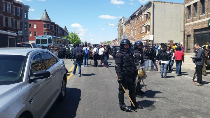 Less Than 24 Hours After Baltimore Riots, A Glimmer Of Hope