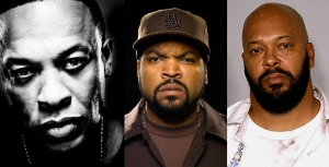 Suge Knight, Dr Dre and Ice Cube