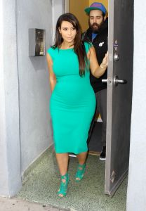 Kim Kardashian pregnant in L.A.