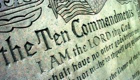 Ten Commandments Sculpture Lawsuit