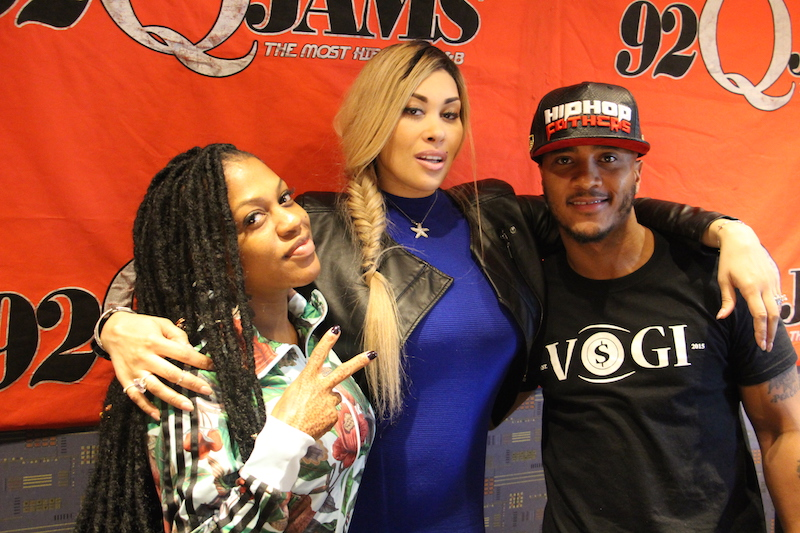 Keke Wyatt with Lil Mo and DJ Quicksilva at 92Q in Baltimore