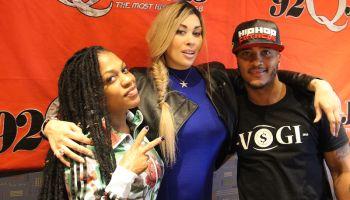 Keke Wyatt with Lil Mo and DJ Quicksilva at 92Q in Baltimore