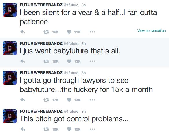 Future Blasts Ciara on Twitter