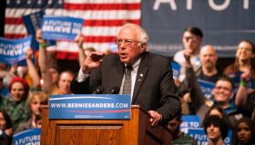 Democratic Presidential Candidate Bernie Sanders Holds Rally In Laramie, Wyoming