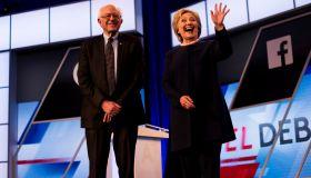 Former Secretary of State Hillary Clinton and Senator Bernie Sanders