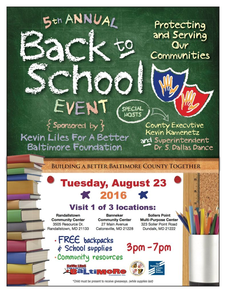 Kevin Liles Back to School Event