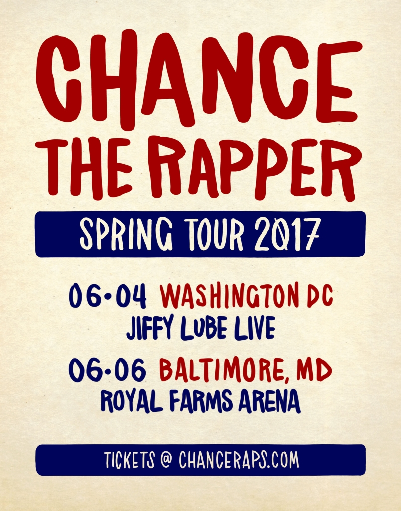 Chance The Rapper Spring Tour Graphic