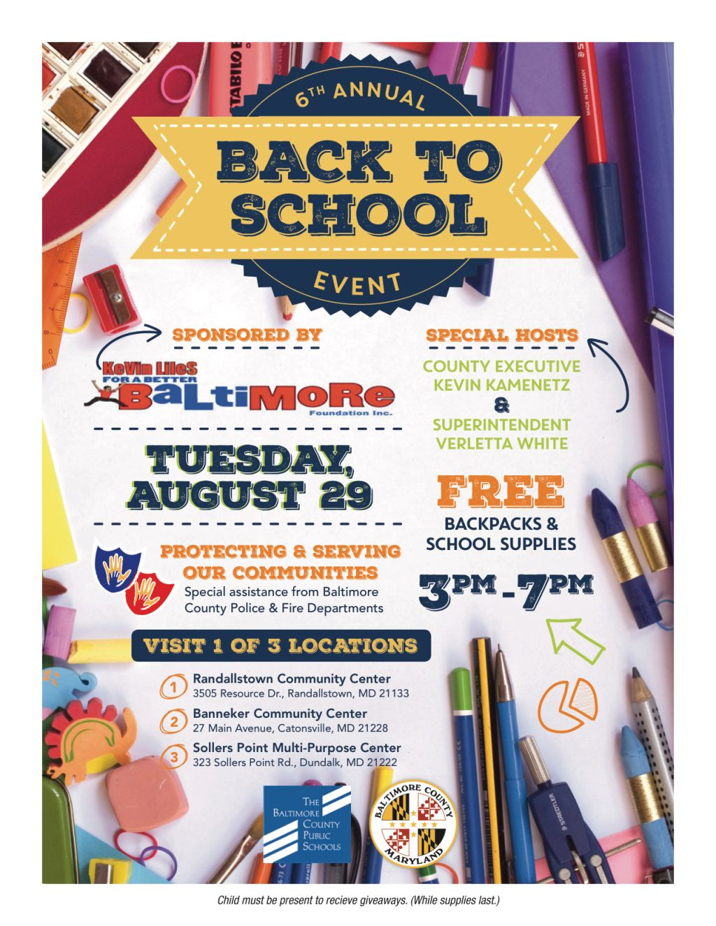 kevin liles back to school event 2017