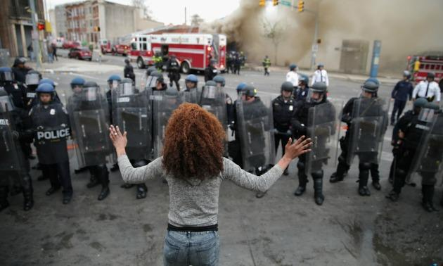 Protests Erupt in Baltimore After Funeral For Freddie Gray Who Died While In Police Custody