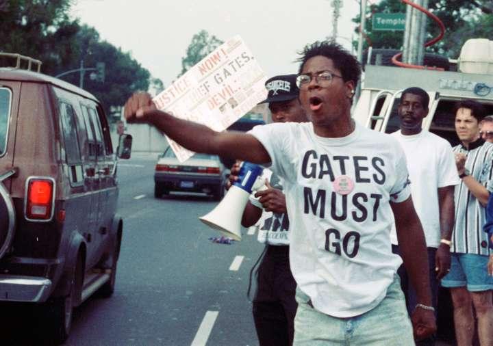 Protesting Rodney King Verdict