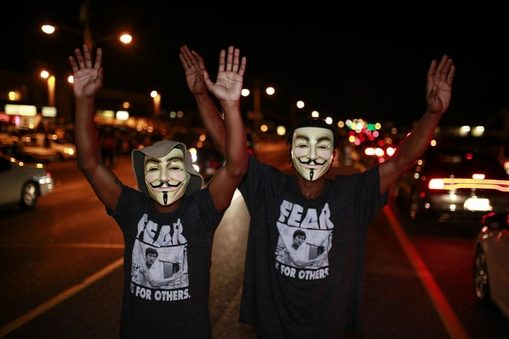 Protest over the killing of unarmed teen in Ferguson