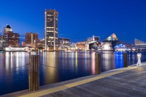 Baltimore Inner Harbor at Dusk