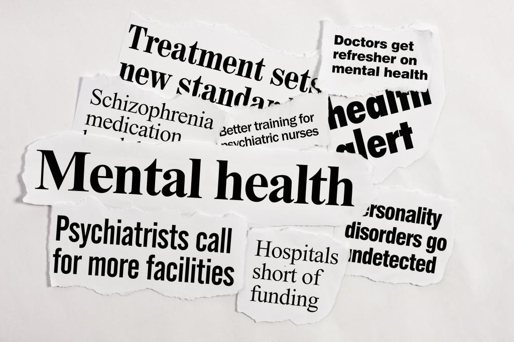 Headlines about mental health