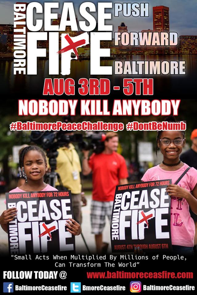 Baltimore cease fire