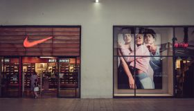 Nike sport store windows and entrance