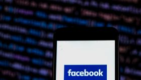 Facebook logo seen displayed on smart phone...