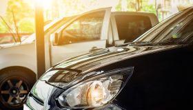 Close-Up Of Car At Showroom
