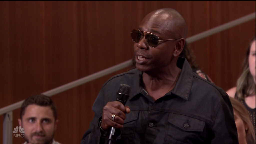 Dave Chappelle during an appearance on NBC's 'The Tonight Show Starring Jimmy Fallon.'