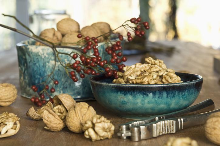 Cracked walnuts