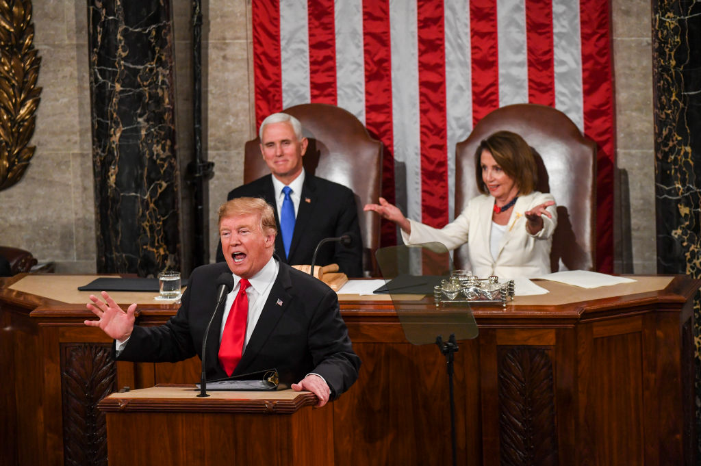President Trump Delivers His Second State Of The Union Address To Joint Session Of Congress