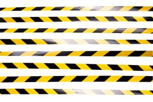 Yellow and Black Striped Cordon Tape