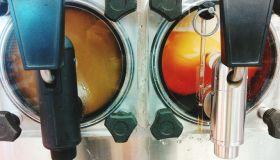 Close-Up Of Slurpee Machines