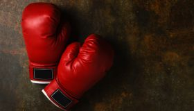 Close-Up Of Boxing Gloves On Table