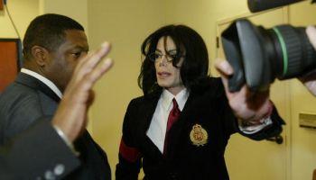 Pop idol Michael Jackson and his body gu