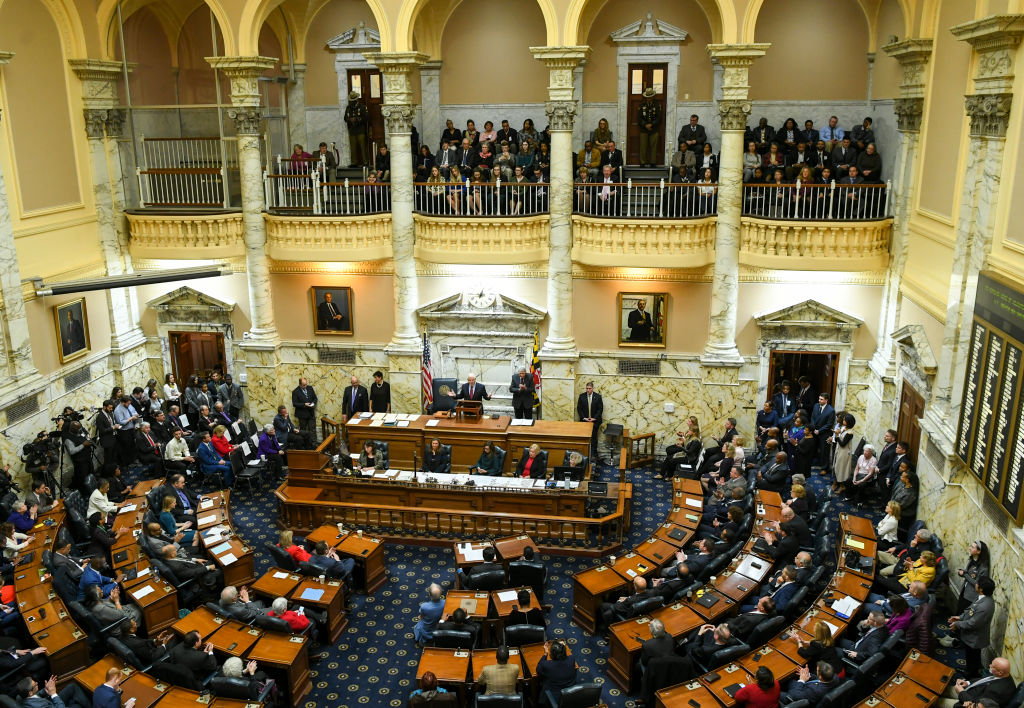 Opening day at the Maryland General Assembly at the Maryland Statehouse