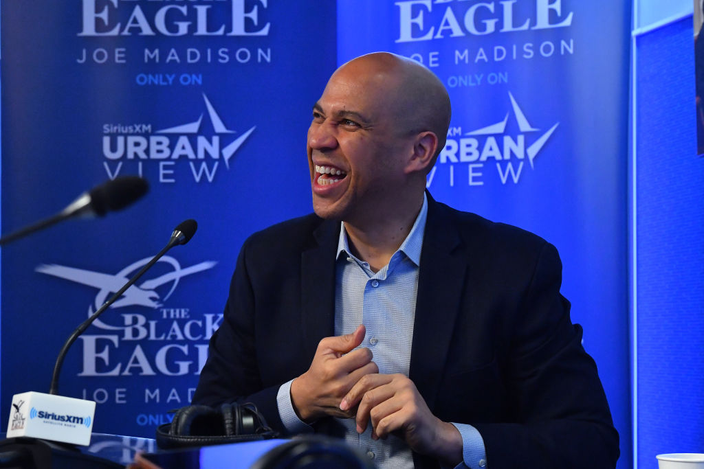 Senator Cory Booker Visits The SiriusXM Studios In Washington D.C. For A Sit-Down Interview With SiriusXM Urban View Host, Joe Madison