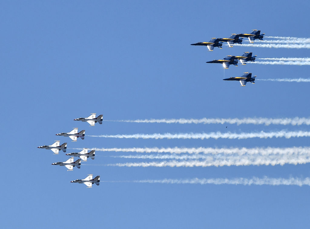 Blue Angels And Thunderbirds Do Flying Tribute To Atlanta COVID-19 Frontline Workers