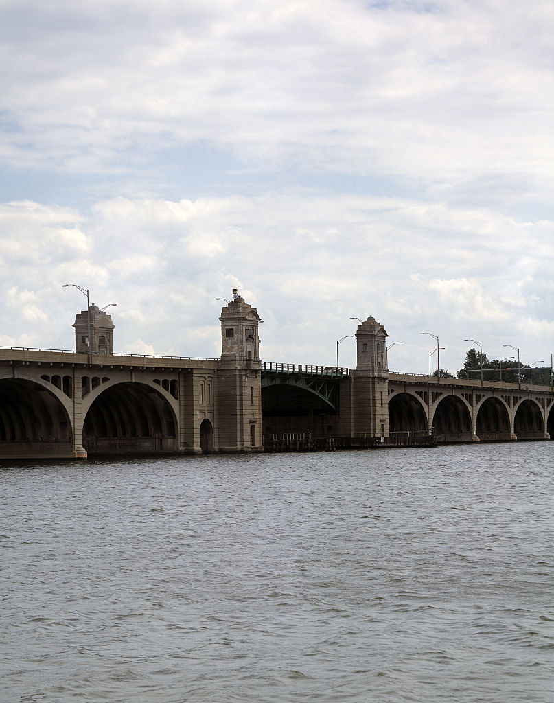 Hanover Street Bridge, built in 1916 in Baltimore, Maryland