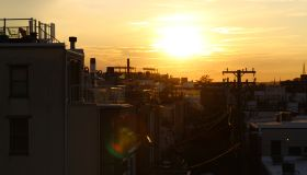 Sunset over Baltimore Neighborhood in Federal Hill