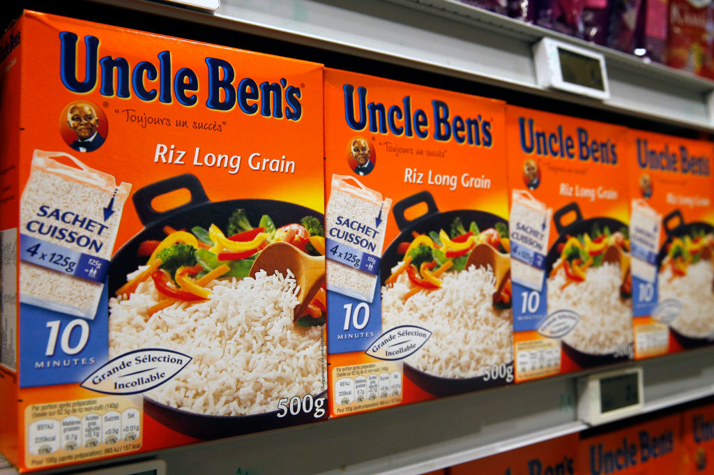 Uncle Ben's Branding Featuring An Image Of A Black Farmer : Illustration