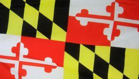 Maryland state flag, full frame view