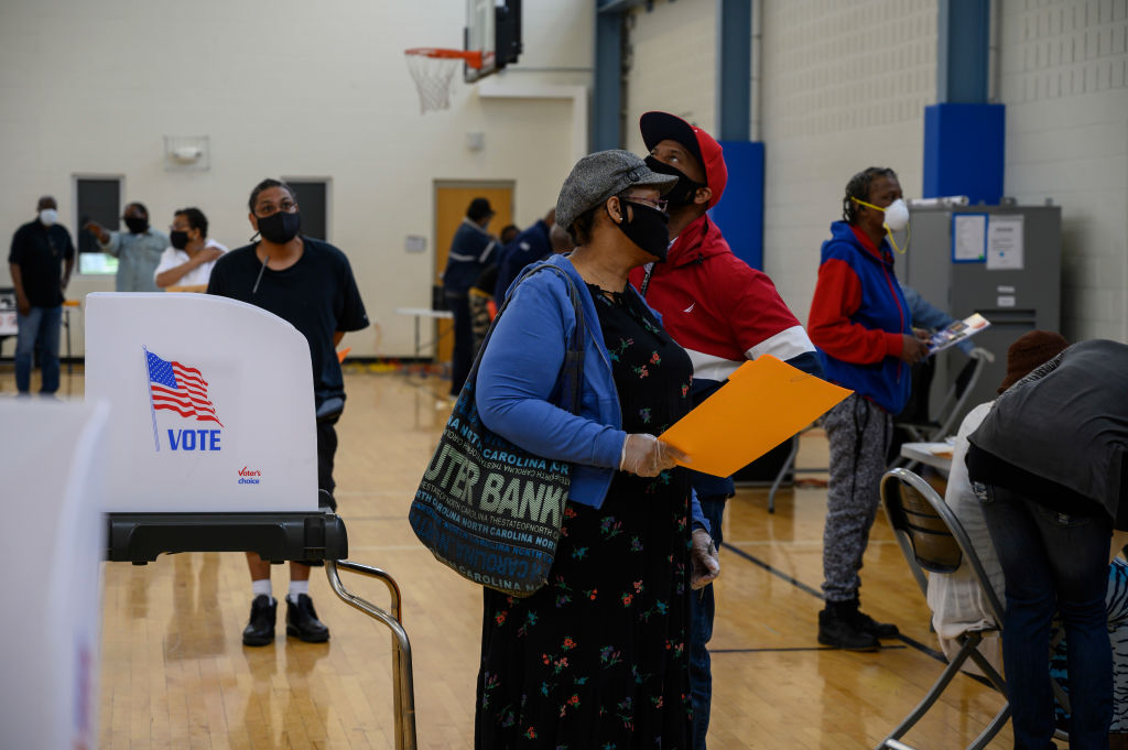 LANDOVER MD - JUNE 02 Voters turned out to one of the few in p