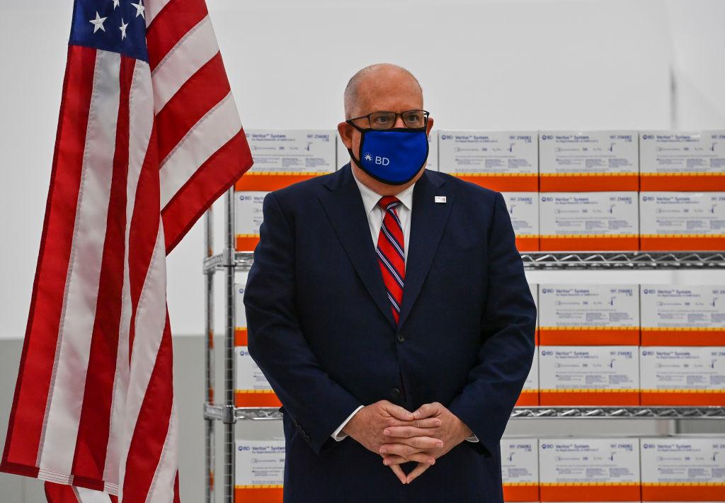 SPARKS, MD - SEPTEMBER 10: Maryland Governor Larry Hogan waits