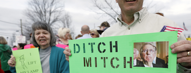 Mitch McConnell Speaks At Louisville-Area Luncheon On Latest Legislative News