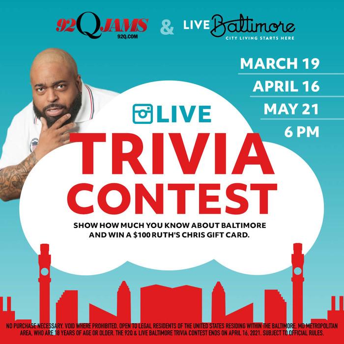 92Q and Live Baltimore Trivia Contest