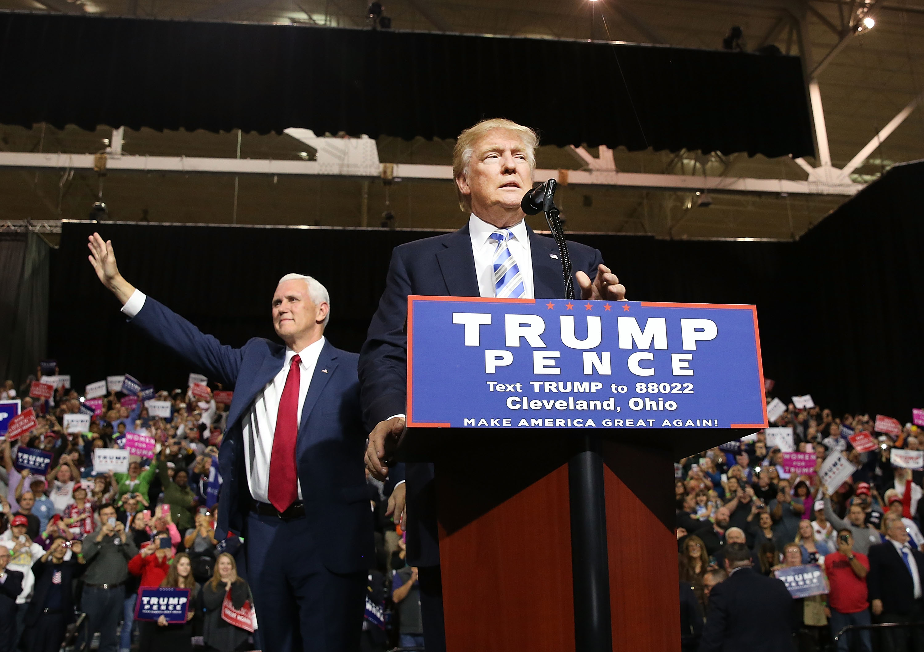 Donald Trump And Mike Pence Hold Campaign Rally In Cleveland