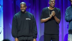 Kanye West & Jay-Z Attend Tidal Launch